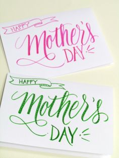 Lettering Lately > Happy Mother's Day-hand lettered cards