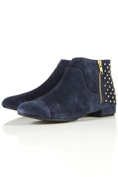 topshop does blue suede {and studded} shoes