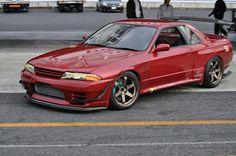 Time Attack BNR32 Nissan Skyline Gt R, R32 Skyline, R32 Gtr, Nissan Gtr R35, Tuner Cars, Jdm Cars, Fiat 500, Drifting Cars, Chevy