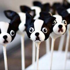 Black & White Dog #Cakepops