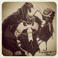 Con sketch :: Venom :: Spidey is dead by Red-J.deviantart.com on @deviantART