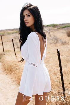 Go boho with this ultra-chic woven romper, by Guess Fashion Mode, Boho Fashion, Womens Fashion, Fashion Outfits, Summer Outfits, Cute Outfits, Summer Dresses, Mode Shorts, Style Feminin