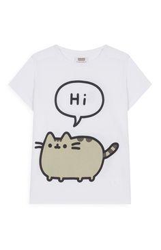 Primark - Camiseta blanca del gato Pusheen