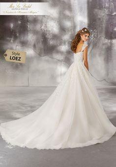 0b92e3790d5 Estilo LOEZ Laurielle Wedding Dress Crystal Beaded