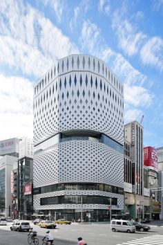 Klein Dytham's Ginza Place features latticed facade inspired by traditional Japanese crafts