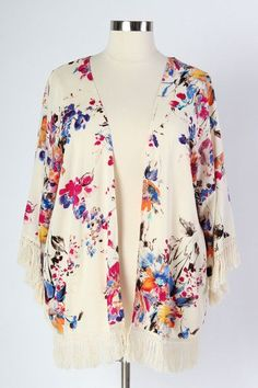 Plus Size Clothing for Women - Floral & Lace Crochet Cardigan (Sizes 16 - 26) - Society+ - Society Plus - Buy Online Now!