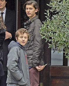 Smoking!  Kind of young to be smoking isn't he?  Prince Joachim, Prince Nikolai and Prince Felix at Cafe Victor