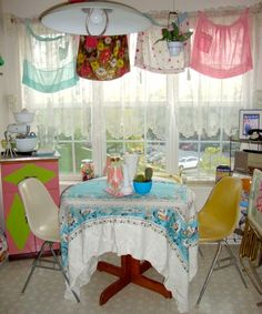 What a nice thing to do with vintage aprons!