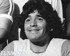 Década 80. El futbolista Diego Armando Maradona.  (Archivo El Nacional)