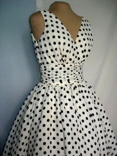 Dalmatian Dress. Adorable 1950's inspired polka dot cocktail dress. Can be customized like others in our shop, any size welcome.. $245.00, via Etsy.