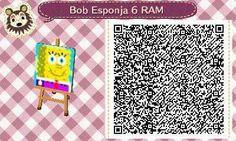 Este es un QR Code para Animal Crossing, creado por mí; como podéis observar, es un suelo, pared... (lo que deseéis) de Bob Esponja. [6-10]  Lo podéis encontrar en mi canal de YouTube: https://www.youtube.com/channel/UCh6uwa2CjSgR4WQ-ghRQY6Q (Roxy).  ¡Espero qué os guste! ;)