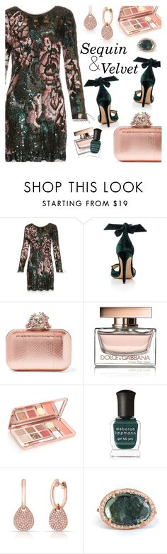 """""""Perfect Party Dress"""" by razone ❤ liked on Polyvore featuring Roberto Cavalli, Alexandre Birman, Dolce&Gabbana, Deborah Lippmann, Anne Sisteron and Celine Daoust"""