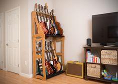 Trendy Home Studio Music Diy Guitar Display Ideas Guitar Storage, Guitar Display, Guitar Rack, Guitar Stand, Guitar Shop, Home Music Rooms, Music Studio Room, Living Room Images, Living Room Designs