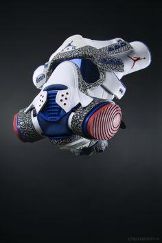 Jordan Swag, Jordan Shoes, Sneaker Art, Sneaker Boots, Gas Mask Art, Gas Masks, Cute Reptiles, Cool Masks, Fresh Shoes