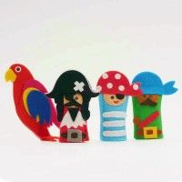 Pirates Felt #FingerPuppets - Pack Of 5