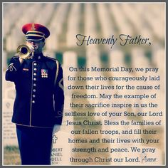 memorial day prayer for peace
