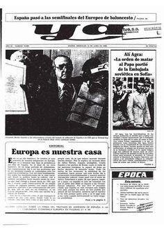 Las fotos y las portadas del día de la firma del Tratado de Adhesión de España a la CEE - RTVE.es