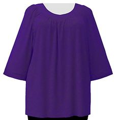 112f574cb9031d A Personal Touch Women s Plus Size Purple V-neck Top - 0X
