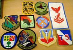 10 DIFF MILITARY PATCHES-LOT 4