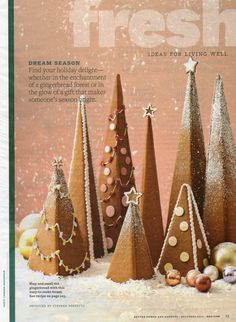 Gingerbread Christmas trees instead of houses!
