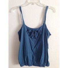 Urban Outfitters Blue Tank Brand is Kimchi Blue but it was purchased at Urban Outfitters. Size Medium. Straps are adjustable (as shown). Urban Outfitters Tops Tank Tops
