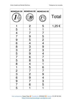 trabajamos las monedas-1 imagenes_3 Money Worksheets, School Worksheets, Math Class, Fun Math, Money Activities, Maila, Primary Maths, Math Projects, Euro