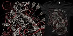 """""""Werewolves of the Confederacy"""" t-shirt design by CASTLE"""