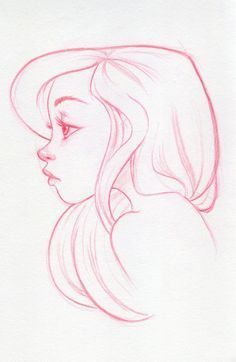 Image result for female profile drawing