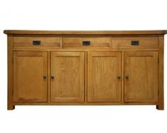 Oakton 4 door sideboard - The Oakton Collection is one of the most diverse available today, meaning that you can find the perfect item, whatever the style or size of your home. Beautifully crafted and finished with a subtle nod towards the rustic styling, with chunky tops and metal handles for a distinct look, this range is undeniably stylish with a robust nature that will find itself complimenting your home for many years to come.