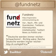 @fundnetz's Twitter profile courtesy of @Pinstamatic (http://pinstamatic.com)
