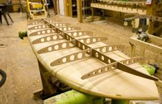 A great example of the craft of wood surfboard building.