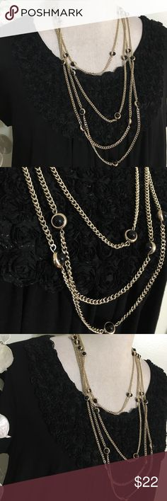 LOFT MULTI CHAINED NECKLACE Stunning elegant necklace in perfect condition LOFT Jewelry Necklaces