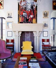 Palazzo Chupi - Julian Schnabel -NYC - my favorite room in coolest home ever. Not that I would ever be invited in, but we all have dreams about things we love.