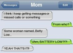 Ideas For Funny Texts Period Mom - Funny text conversations - Funny Texts Jokes, Text Jokes, Funny Text Fails, Cute Texts, Funny Text Messages, Text Message Fails, Funny Texts From Mom, Funny Humour, Funny Text Conversations
