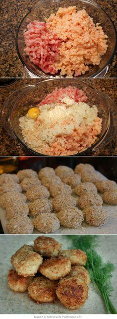 Chicken and Pork Katleti Recipe - Natasha's Kitchen Ground Chicken, Russian Recipes, 1 Egg, Meatball Recipes, Ground Turkey, Main Dishes, Vegan Recipes, Kitchens, Vegane Rezepte