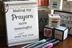 Such a fun way to study about Prayer! This print-your-own flip book really helps you dive into True to the Faith, other scriptures and general conference talks - and then you have it all in one place!