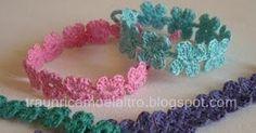 Receitas de Crochet: Pulseira delicada de crochet
