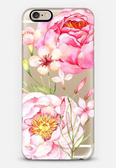 Pretty Pink Peonies - Watercolor Floral iPhone 6s case by Ruby Ridge Studios | Casetify