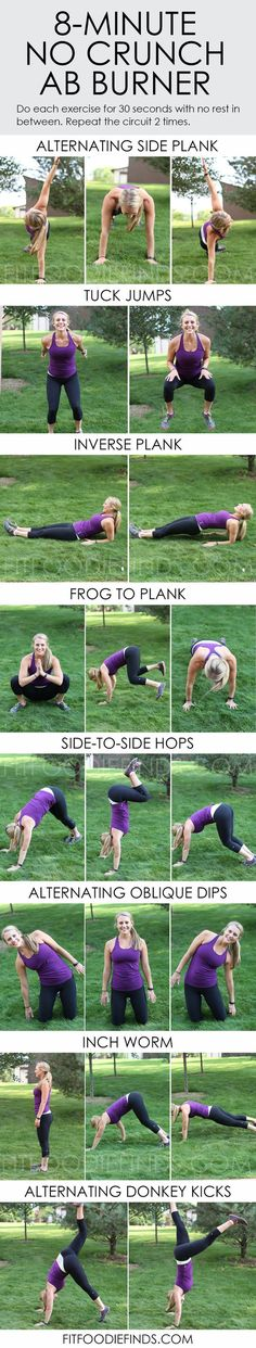 8 Minute No Crunch Ab Burner via FitFoodieFinds.com