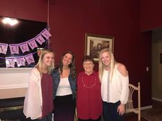 This is myself with, from left to right: Madeline Phillips (Tony Luedecke's Fiance), Barbara Kinnison (my dad's mother), and my cousin Emily Mueller