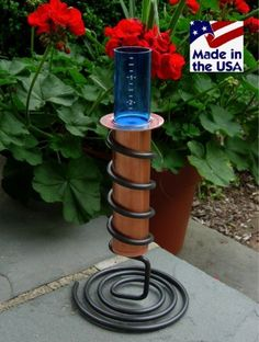 """World's Coolest Tabletop Rain Gauge by Worlds Coolest Rain Gauge. $49.95. Made entirely in the USA for accuracy, durability and reliability. 9""""  tall, measures 6"""" of rain. It's The Original Floating Rain Gauge!. Easy to read and fun to use. Unbreakable blue polycarbonate measurement tube rises to show water accumulation. The World's Coolest Rain Gauge is a new twist on a classic device. An unbreakable, bright blue measurement tube rises to show water accumulation. Crafted of soli..."""