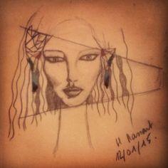 A girl in the spot! #dessin#draw#spot #bijoux#bouclesdoreilles