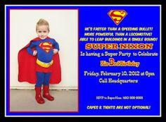 Superman invitation ideas