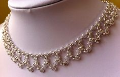 Delicate silver drape necklace by IronLaceDesign on Etsy