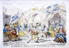 Gambols on the River Thames, Feby. 1814 by George Cruikshank