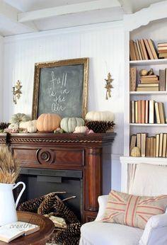 Like the elegant framed chalkboard.