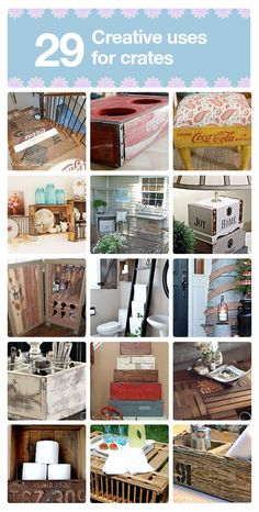 29 creative uses for old crates.