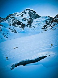 """Theodulgletscher glacier, one of the frozen fingers to the massive Gorner Glacier, which at 57 square km, makes it Europe's second-largest.""  http://skicanadamag.com/2012/09/21/travel/group-therapy"