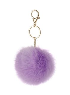 Lilac Fluffy Keyring - Dorothy Perkins