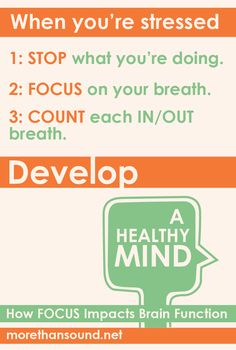Stop. Focus. Breathe. Learn other ways to reduce stress. Listen to guided exercises on the new audio download from Daniel Goleman and Richard Davidson, Develop a Healthy Mind: How Focus Impacts Brain Function.
